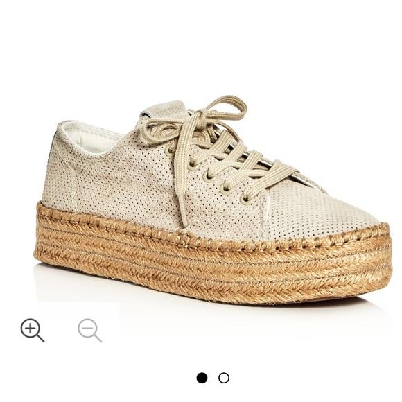 Tretorn Suede Espadrille Wedge Sneakers
